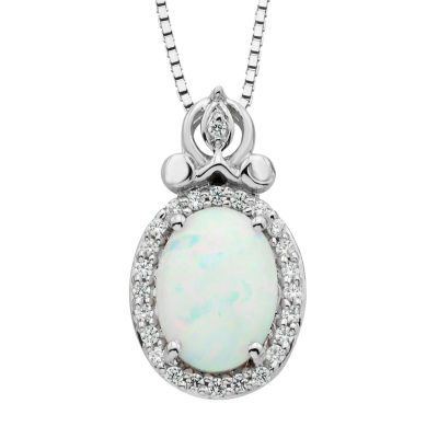 Enchanted By Disney Womens 1/10 CT TW Multi Color Opal ...