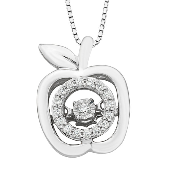 Womens 110 ct tw white sterling silver pendant necklace jcpenney tw white sterling silver pendant necklace mozeypictures Gallery