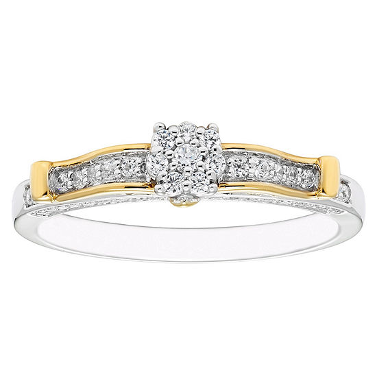 Enchanted Disney Fine Jewelry 1/4 CT. T.W. Genuine Diamond 10K Gold Engagement Ring