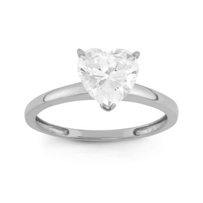 Diamonart Womens 1 3/4 CT. T.W. Lab Created White Cubic Zirconia 10K Gold Engagement Ring
