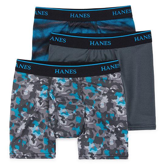 d765a01eca78 Hanes® Boys' X-Temp® Printed Boxer Briefs 3-pack - JCPenney