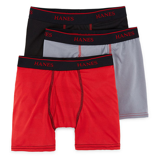 cda03a213bff Hanes® Boys' X-Temp® Mesh Boxer Briefs 3-Pack - JCPenney
