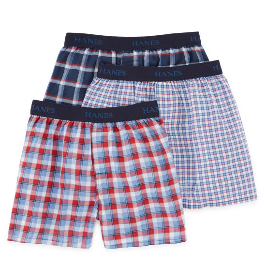 HANES COMFORT FLEX PLAID 3-PC. BOXER