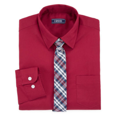IZOD Shirt + Tie Set -8-20 Boys