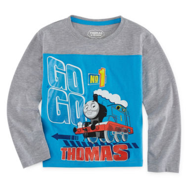 Long Sleeve Crew Neck Thomas and Friends T-Shirt-Toddler Boys