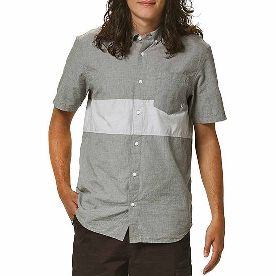 Vans Mens Short Sleeve Button Front Shirt