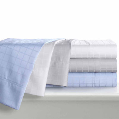 Tribeca Living Windowpane Dobby Yarn Dyed Woven Sheet Set
