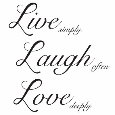 Brewster Live Laugh Love Wall Quote