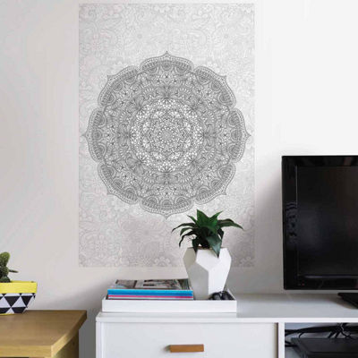 Brewster Paradise Mandala Coloring Wall Decal