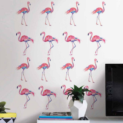 Brewster Wall Pink Flamingo Wall Decal