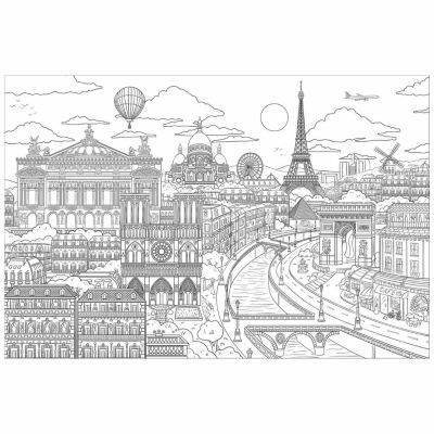 Brewster Wall Visite Paris Coloring Wall Decal