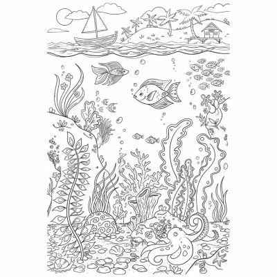 Brewster Wall The Reef Coloring Wall Decal