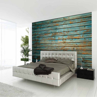 Brewster Wall Washed Timber Wall Murals