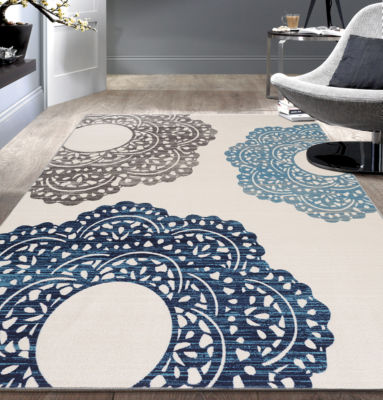 World Rug Gallery Contemporary Large Floral Non-Skid Rectangular Rugs