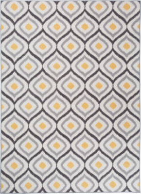 World Rug Gallery Modern Moraccan Trellis Design Non-Skid Rectangular Rugs