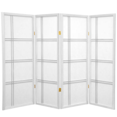 Oriental Furniture 4' Double Cross Shoji 4 Panel Room Divider