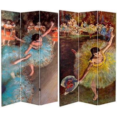 Oriental Furniture 6' Works Of Degas Arabesque Room Divider