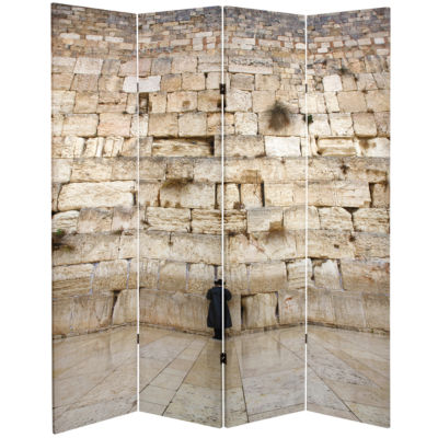 Oriental Furniture 6' Wailing Wall Room Divider