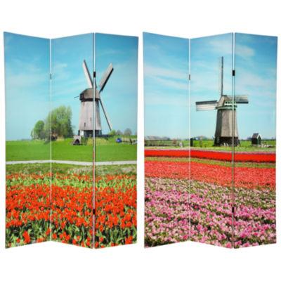 Oriental Furniture 6' Windmills Room Divider