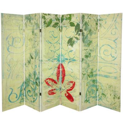 Oriental Furniture 5.25 Garden Gate 6 Panel Room Divider