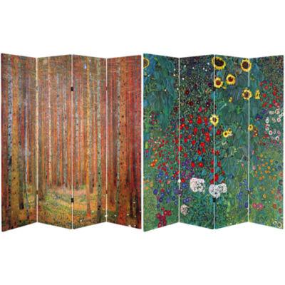 Oriental Furniture 6' Works Of Klimt Room Divider