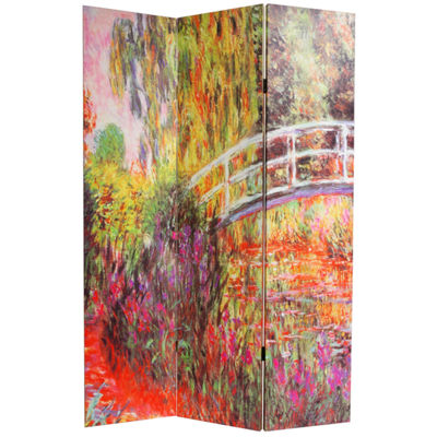 Oriental Furniture 6' Works Of Monet Room Divider