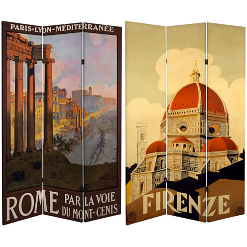 Oriental Furniture 6' Rome Firenze Room Divider