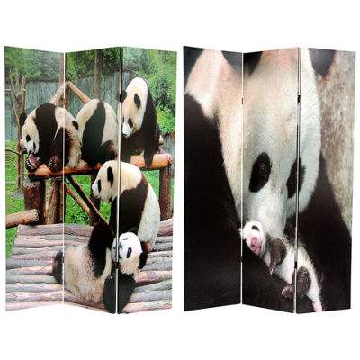 Oriental Furniture 6' Panda Bears Room Divider