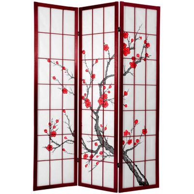 Oriental Furniture 6' Cherry Blossom Shoji Room Divider