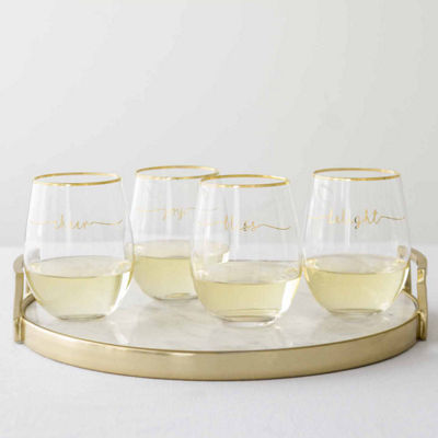 Cathy's Concepts Bliss 4-pc. Stemless Wine Glass