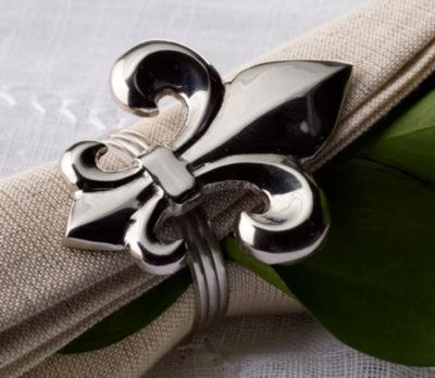 St. Croix Trading Kindwer Bronze Fleur de Lis Napkin Ring