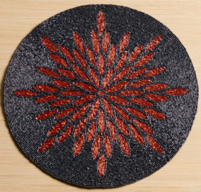 "St. Croix Trading Kindwer 15"" Glass Beaded Sunburst Placemat"