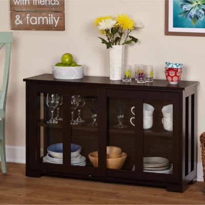 Pacific Tempered Glass Door Sideboard