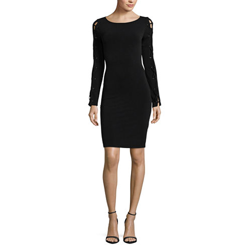Project Runway Lace Up Sleeve Dress