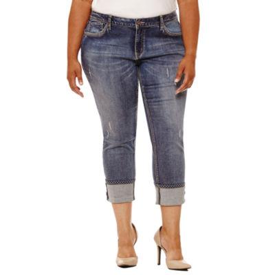 """Boutique + 26"""" Skinny Fit Jeans - Plus"""