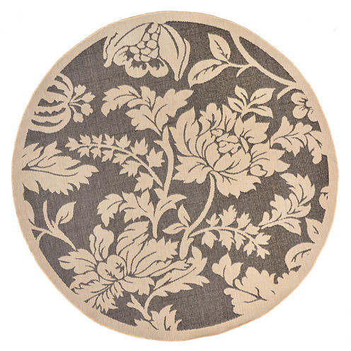 Liora Manne Terrace Floral Round Rugs