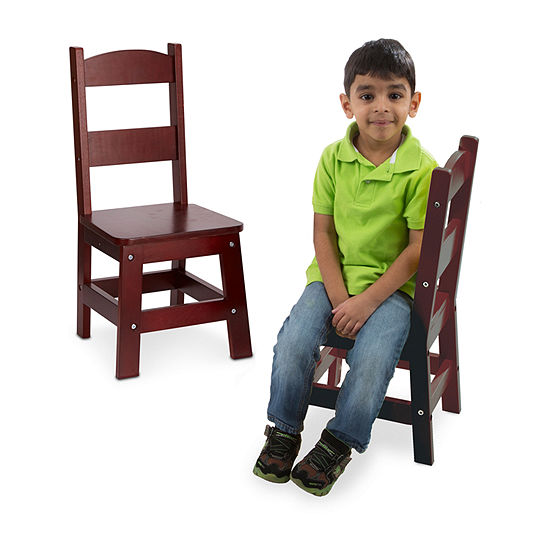 Melissa and Doug ® Set of 2 Wooden Kids Chairs
