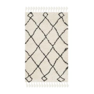 Safavieh Moroccan Fringe Shag Collection Atanas Geometric Area Rug