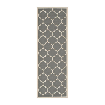 Safavieh Courtyard Collection Amias Geometric Indoor/Outdoor Runner Rug