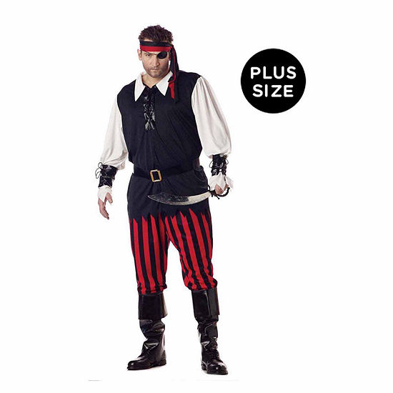 Cutthroat Pirate Adult Plus Costume Mens Costume