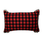 Pillow Perfect Fur Snowman 20X12 Rectangular Throw Pillow