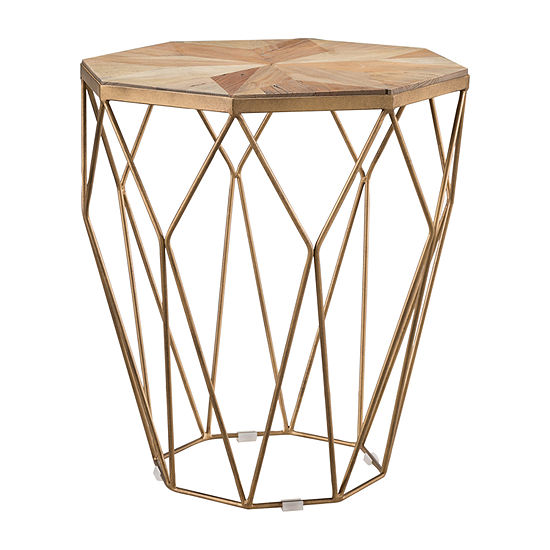 Cacar Reclaimed Wood End Table