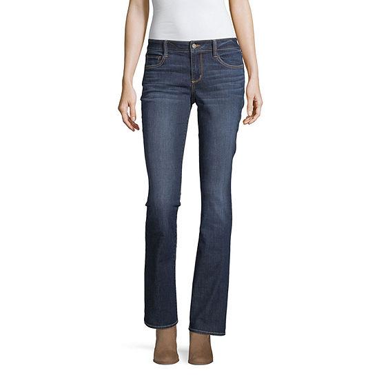 Arizona Womens Low Rise Skinny Fit Bootcut Jean