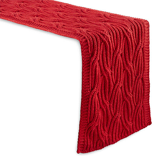 North Pole Trading Co. Big Knit Table Runner