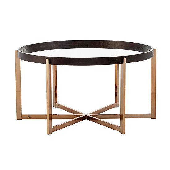 Arba Mirror-Top Coffee Table