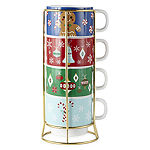 North Pole Trading Co. Merry Stacked 4-pc. Coffee Mug