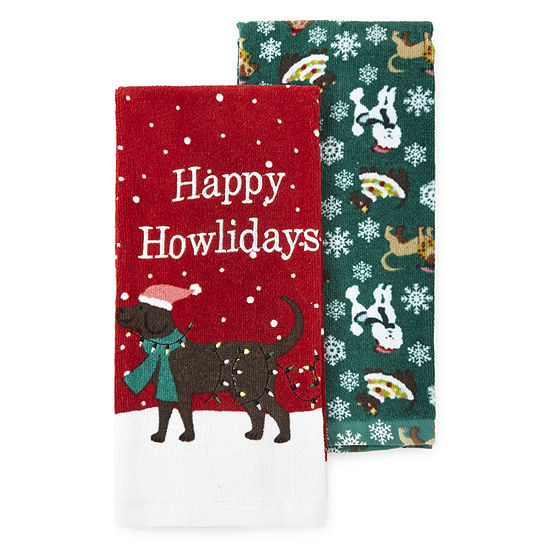 North Pole Trading Co. Happy Howlidays 2-pc. Kitchen Towel
