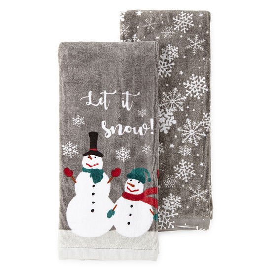 North Pole Trading Co. Snowman 2-pc. Kitchen Towel