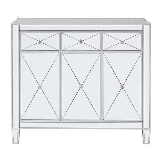 Southern Enterprises Ilbarnes Cabinet 3-Drawer Console Table