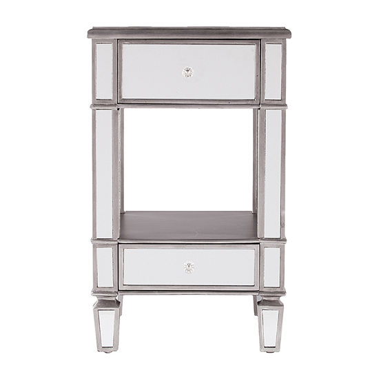 Bechme Mirrored Side Table